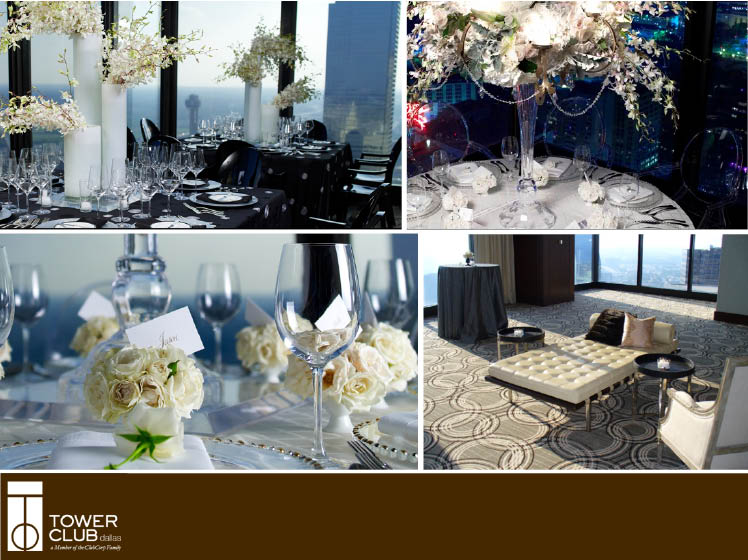 The Tower Club in Dallas, Texas, is available for Texas wedding receptions and events