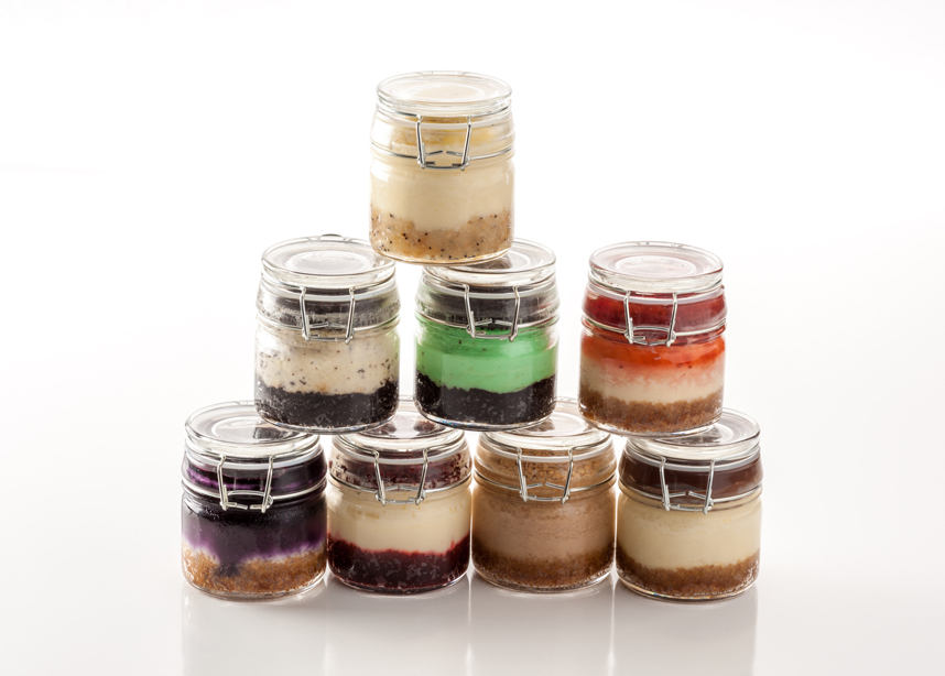 val's cheesecakes favor jars