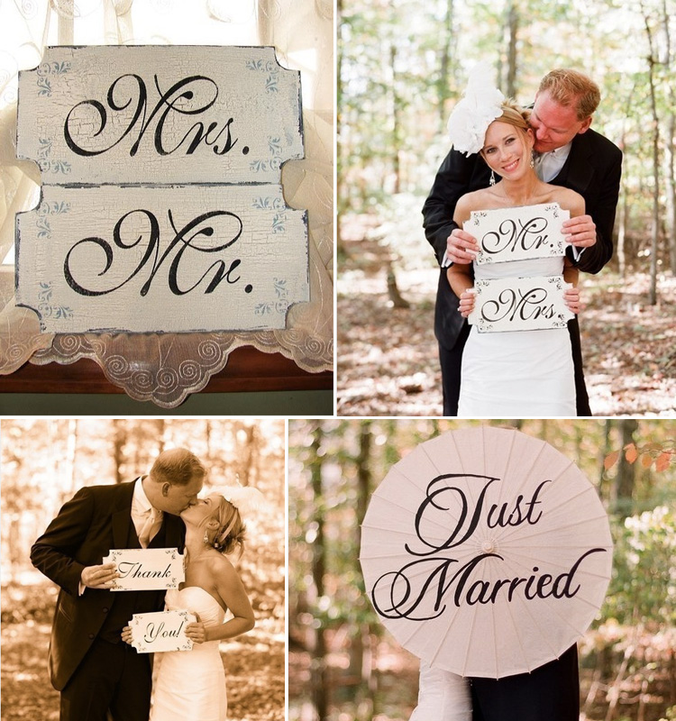 Just Married Signs, Great Find