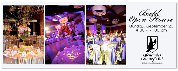 Find North Texas wedding and reception venues in the Plano area-Gleneagles Country Club.