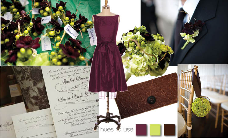 Purple and green wedding colors