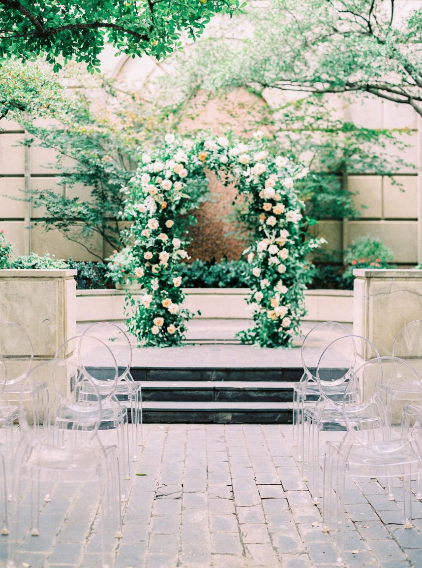 micro wedding at hotel crescent court