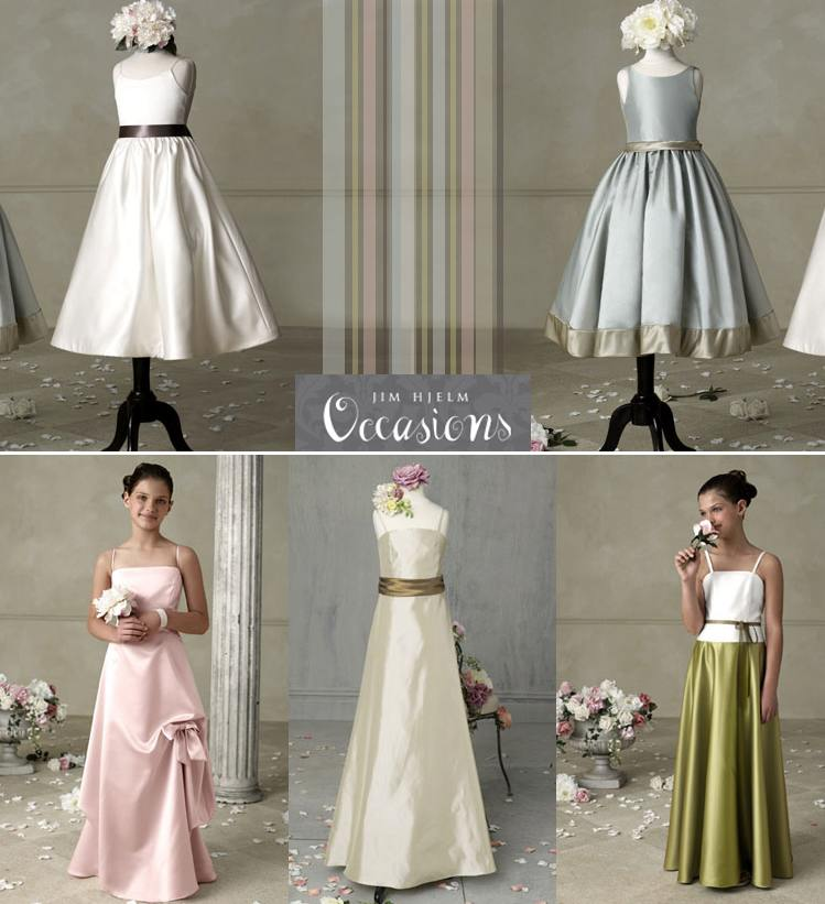Jim Hjelm Occasions Junior Bridesmaids and Flower girl dresses for 2009