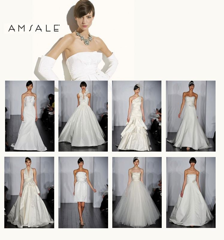 Spring 2010 Bridal Gown Collection from Amsale available at Neiman Marcus and Stanley Korshak in Dallas, Texas