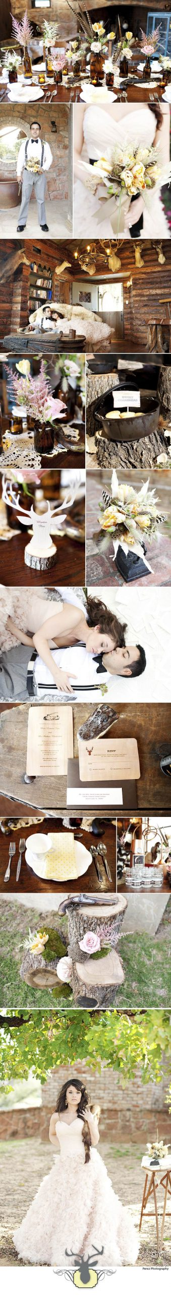 Rustic Preppy Chic Wedding Design shot by Perez Photography