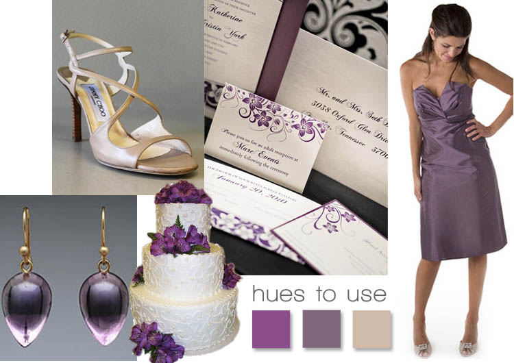 Purple inspiration - Brides of North Texas hues to use