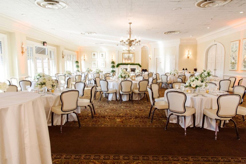 colonial country club rehearsal dinner style