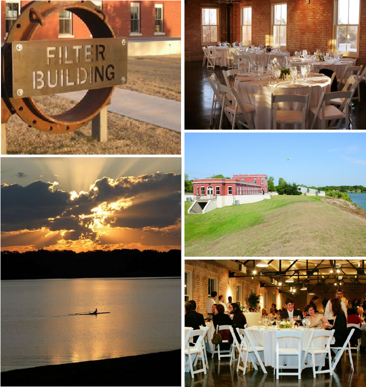 Newly renovated Filter Building on White Rock Lake in Dallas, Texas