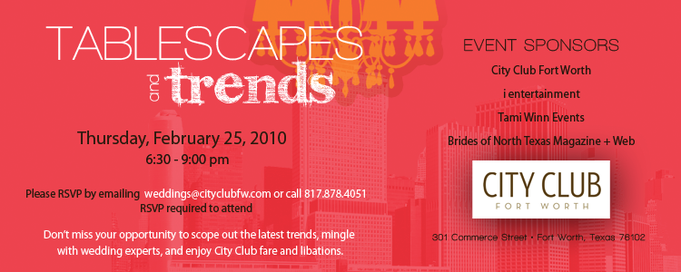 Tablescapes and Trends, CityClub Fort Worth