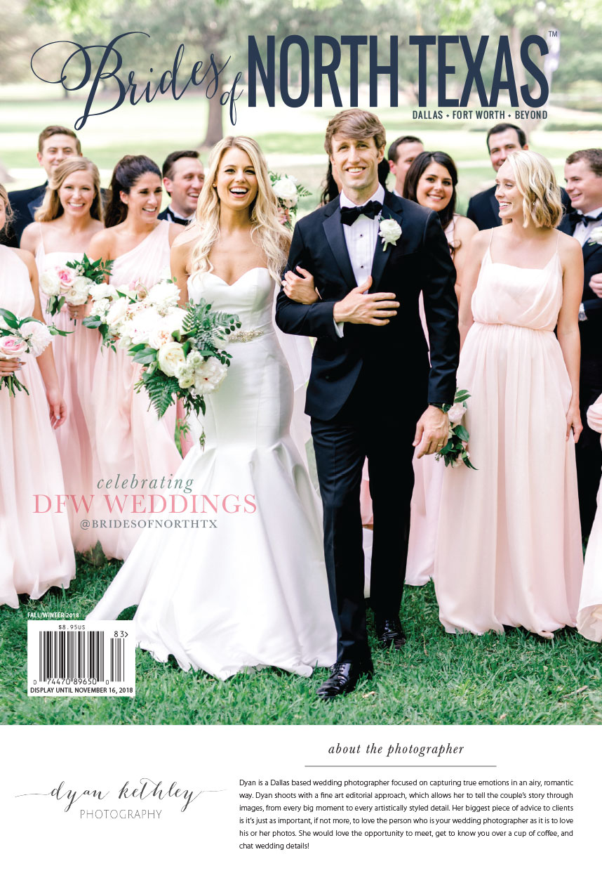 Brides of North Texas Fall/Winter 2018 Cover Reveal