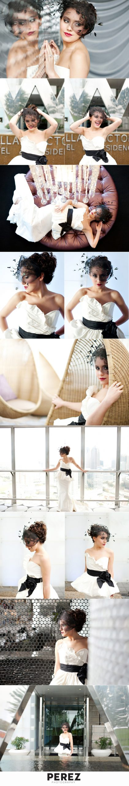 W Hotel Dallas bridal shoot from Perez Photography