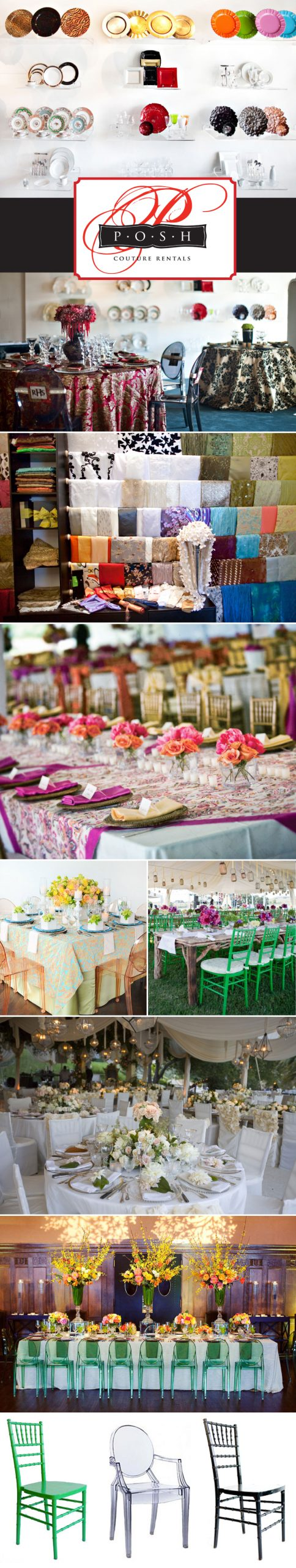 Wedding rentals from Posh Couture Rentals in Dallas Texas