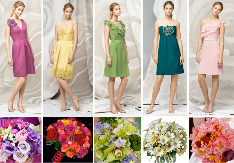 Brides of North Texas, Spring Colors for Bridesmaids and Bouquets