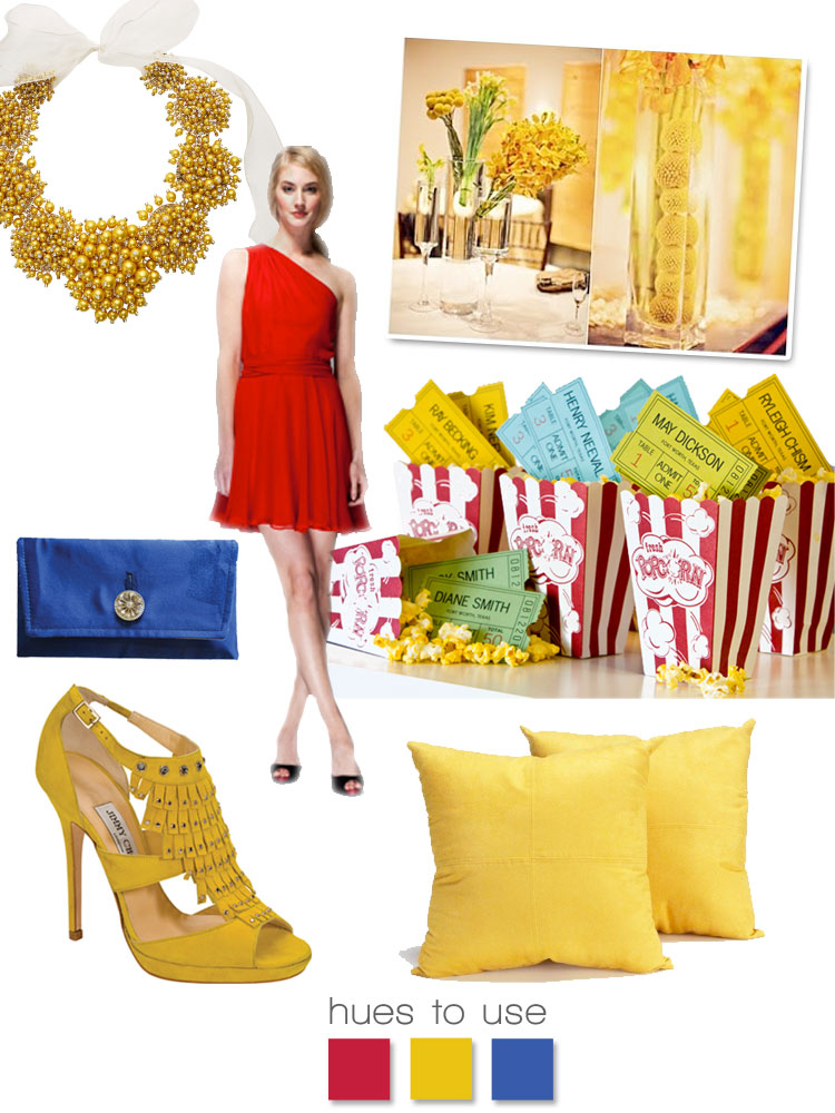 Red yellow and blue wedding colors, wedding inspiration, hues to use