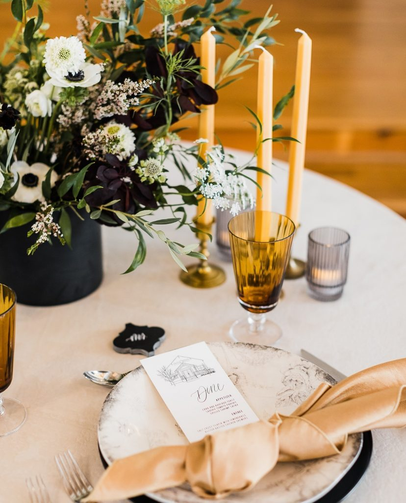"""DFW wedding planner artisanroseeventco is giving us a glimpse into this tabletop design: """"This design is a push to bring"""