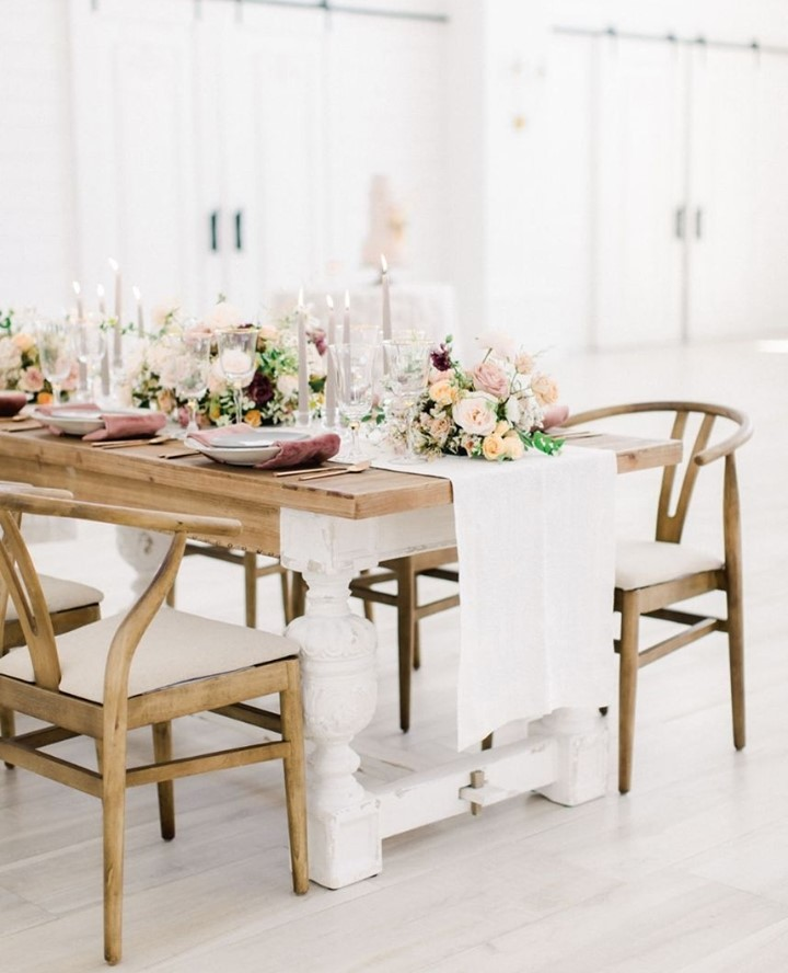 If you think of your wedding day like a blank canvas, wedding rentals are the brush strokes that bring the