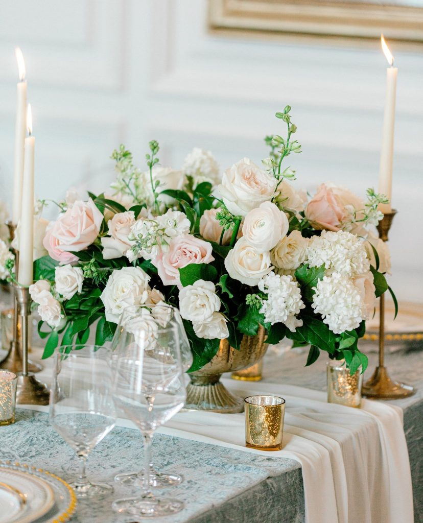 This tablescape looks as if it's straight from the set of Bridgerton!!! Gosh we are swooning over these pretty blush