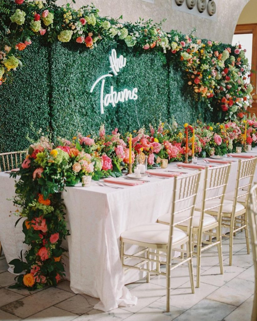 """""""Knowing I wanted the overall theme of my wedding to be a colorful, lush, garden party I knew flowers were"""