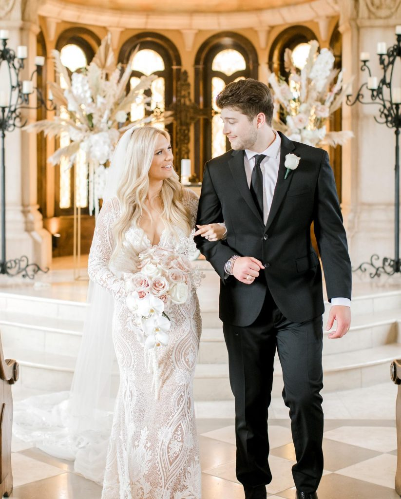 """""""My favorite part of our wedding day was our first look! Zachary & I wanted to have a special moment"""
