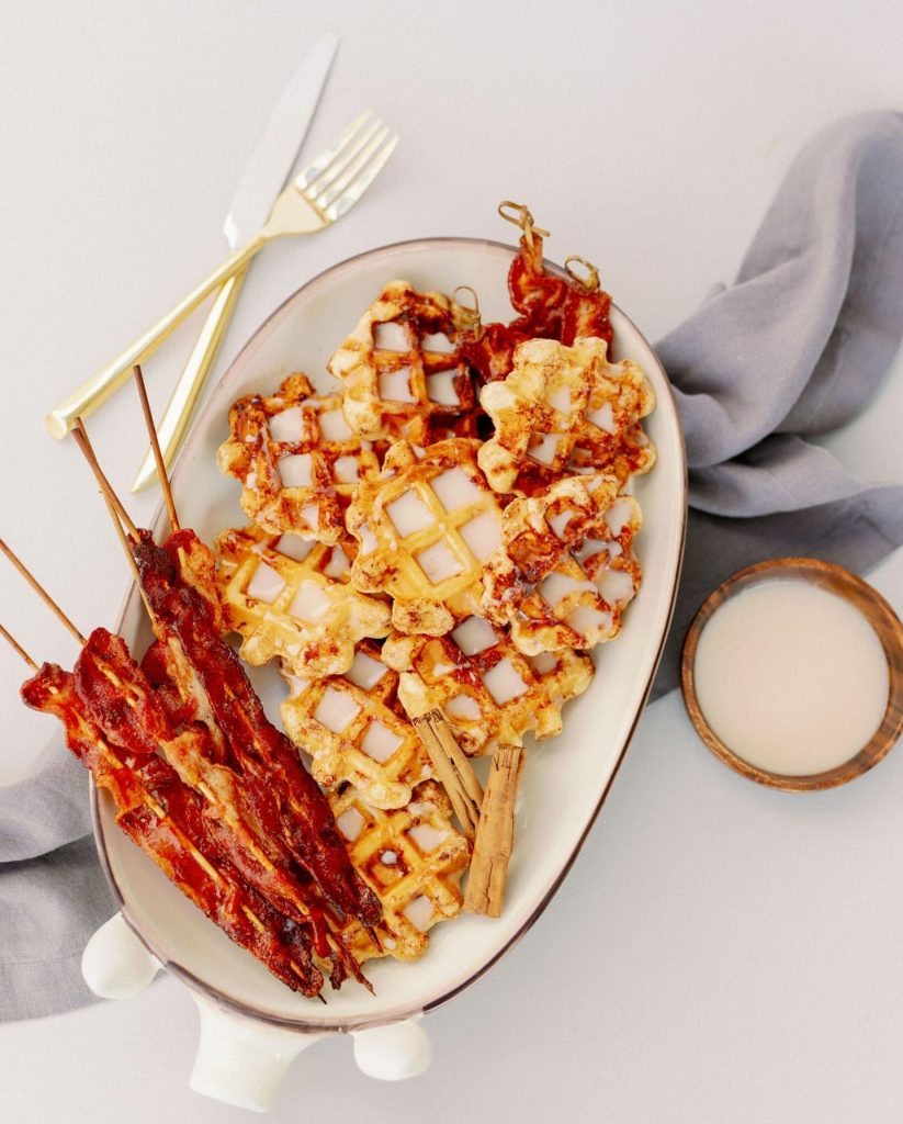 Waffles + bacon ?, tacos + margs ?, shrimp + grits ?, PB + J ?... it just doesn't get