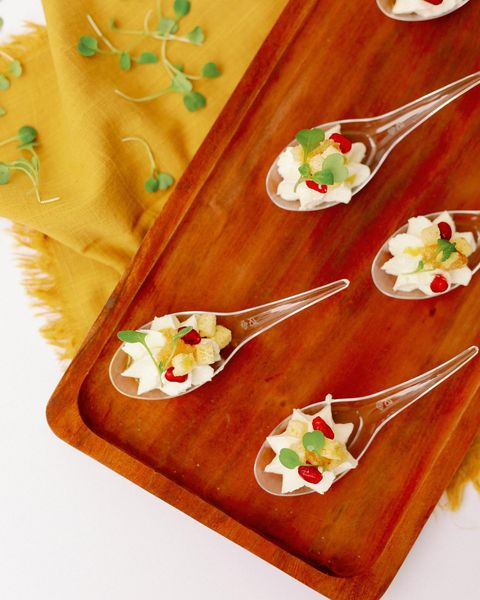 Holy Moly! We are in food heaven with these whipped local ricotta spoons prepared by beyondthebox_weddings ft. white truffle oil,