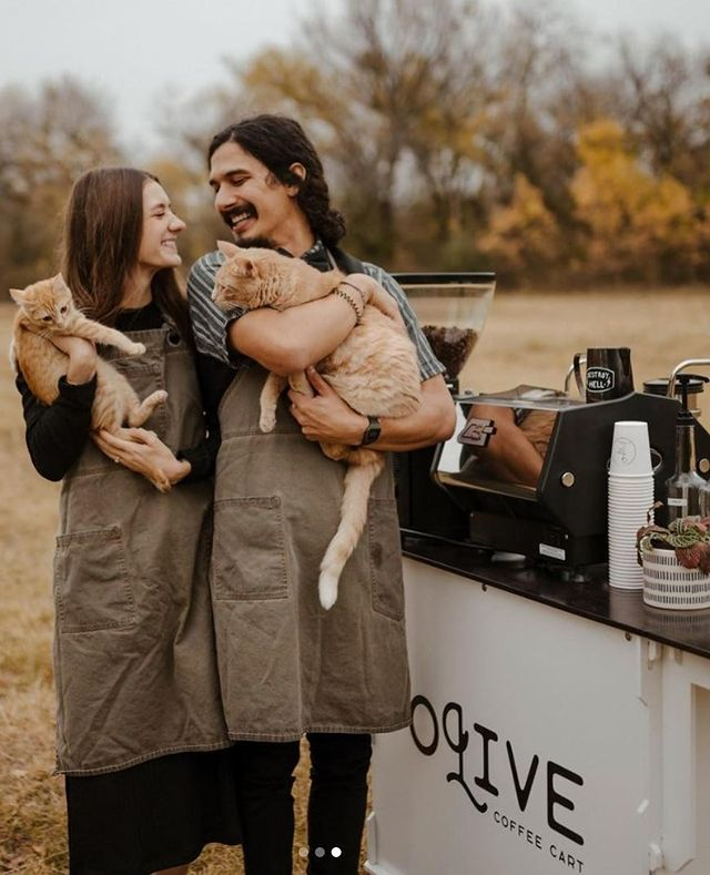 You'll be sure to ESPRESSO yourself at your wedding with this unique coffee cart from olivecoffeecart! Carefully crafted coffees are