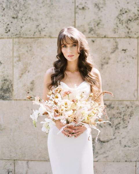 """Beauty pro wzbeautystudio is sharing what inspired the beauty looks from our Ivory Stone fashion editorial: """"The gowns played a"""