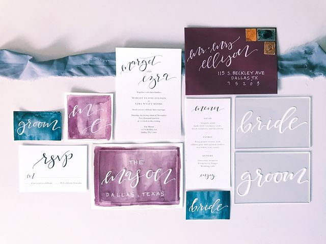 """ellis.paige.calligraphy is a pro at watercolor detail! ? """"Having started designing wedding invitations over four years ago, I have seen"""