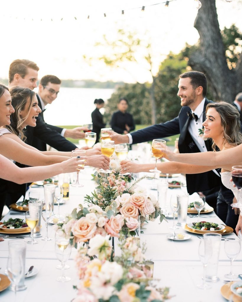 There's no better way to celebrate your nuptials than with good food and tasty drinks post ceremony, am I right?!
