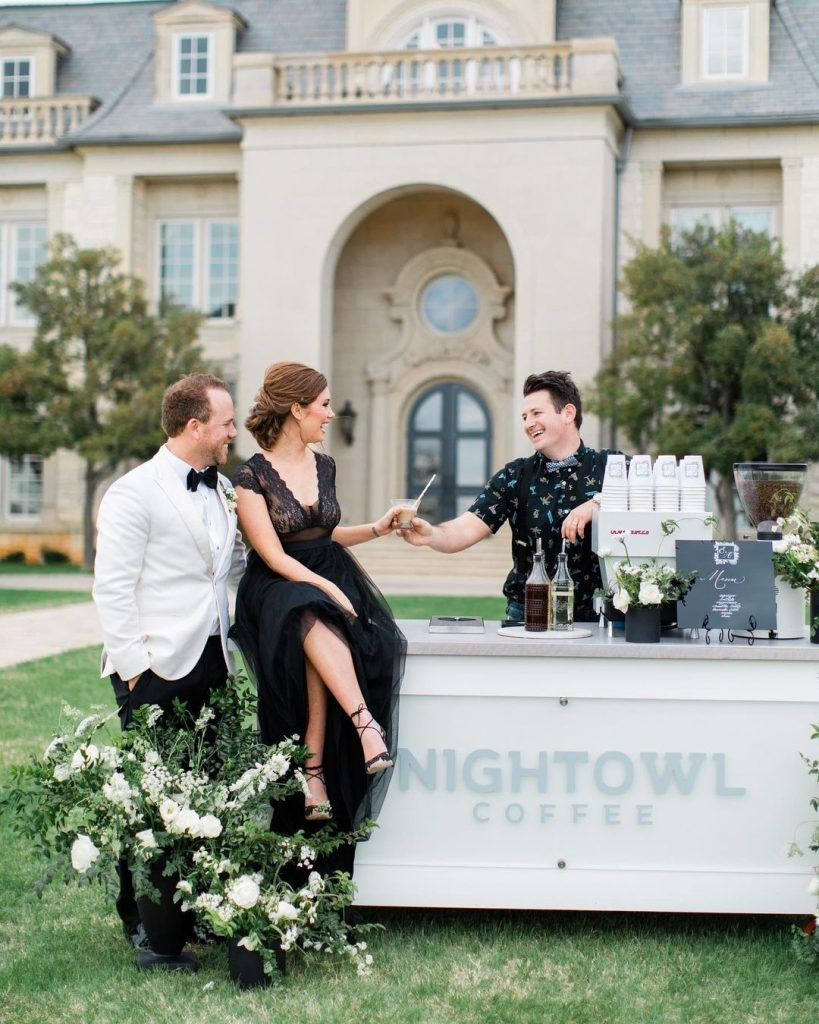 It's no surprise that coffee carts are one of our team's favorite new wedding trends to pop up as of