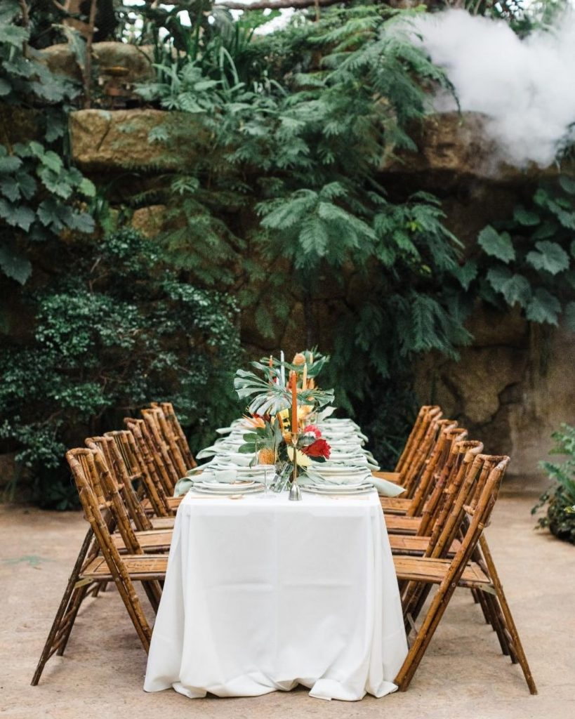 """""""We put together a palette of bright colors with a tropical theme, gathered an incredible team of vendors and encouraged"""